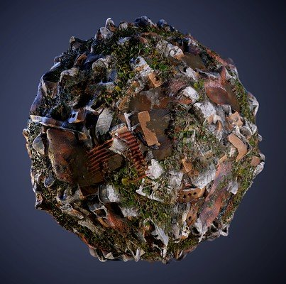 Rubble Brick PBR Texture