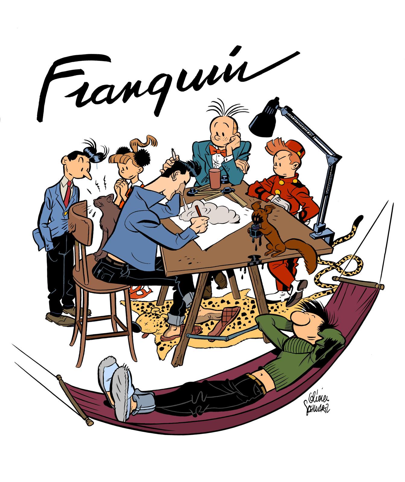 ex libris for gringos locos comic book ( dupuis ) art by Olivier schwartz