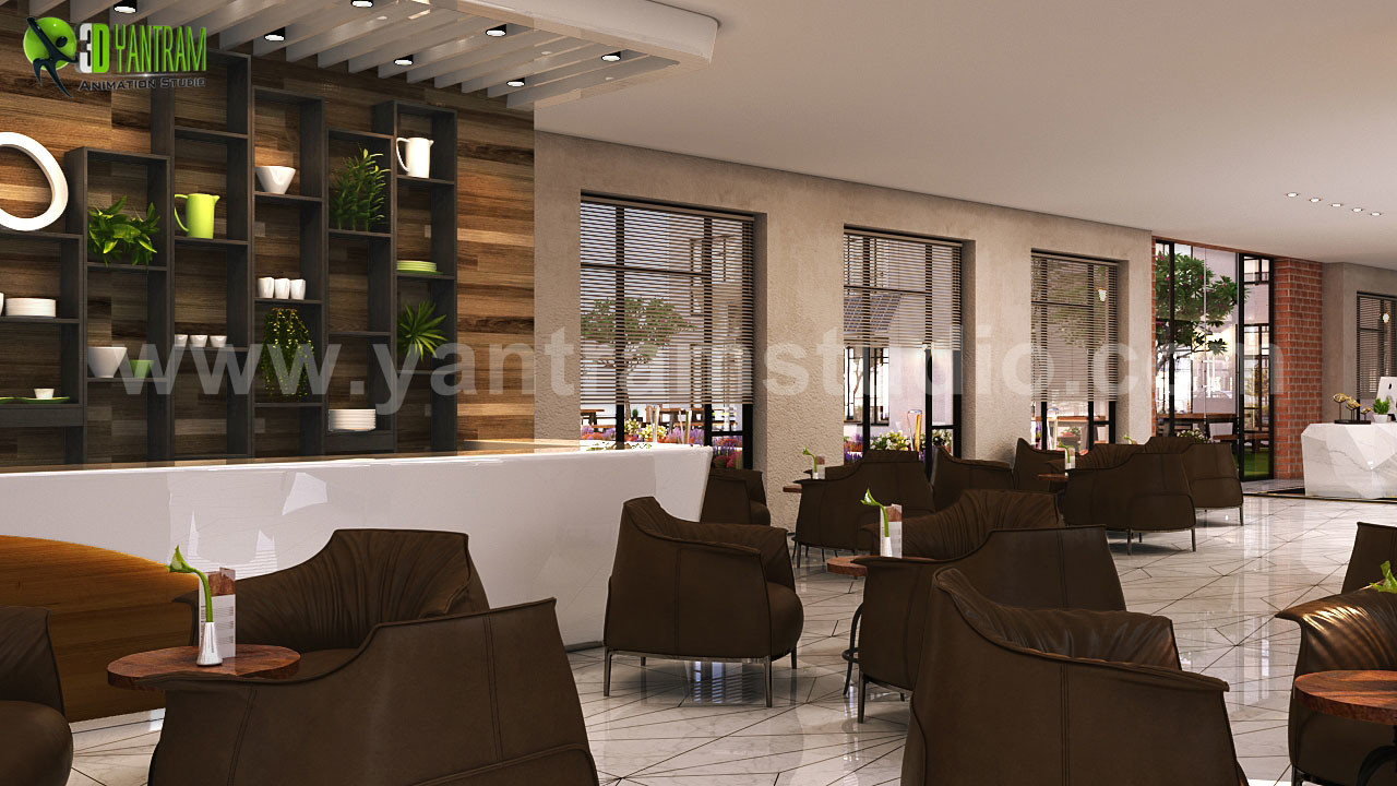 ArtStation - Interior Cafe & Reception Design ideas by ...
