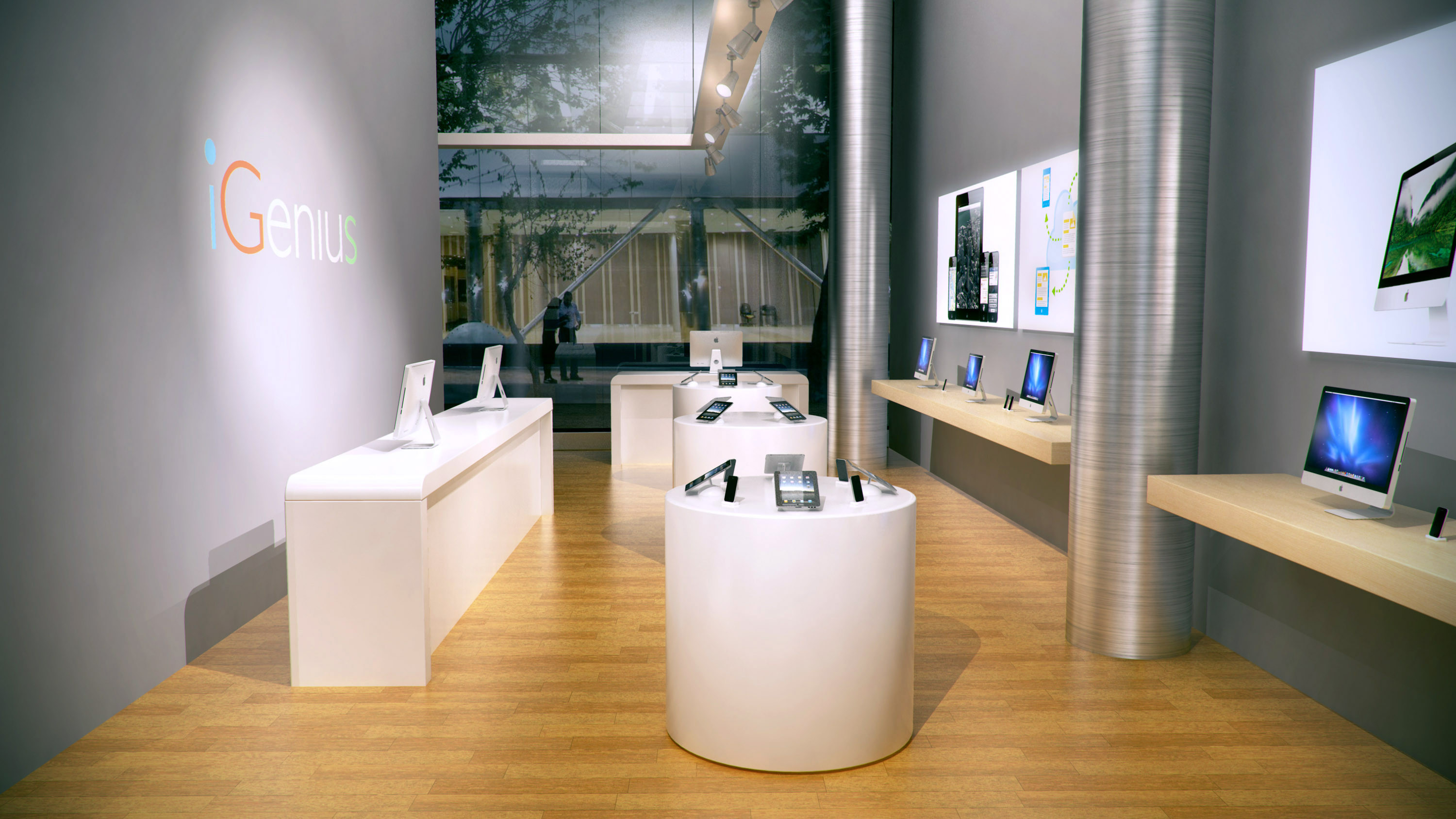 iGenius retail store, interior