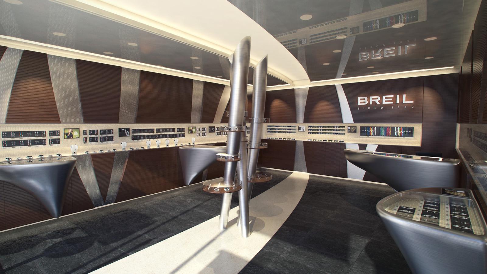 Breil Retail Store, sirst iteration