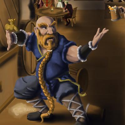 David mills dwarven monk