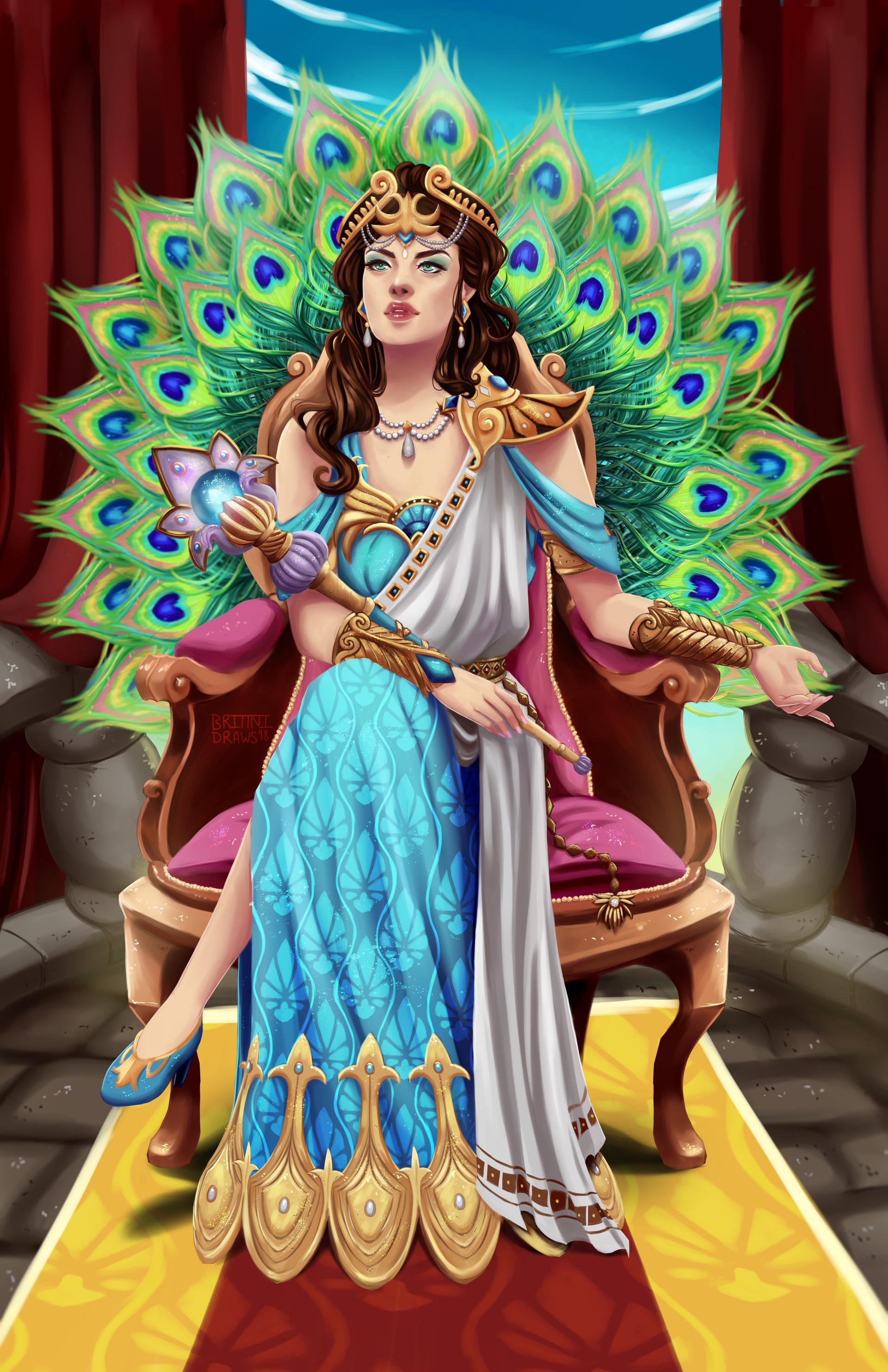 artstation hera queen of the gods smite fanart