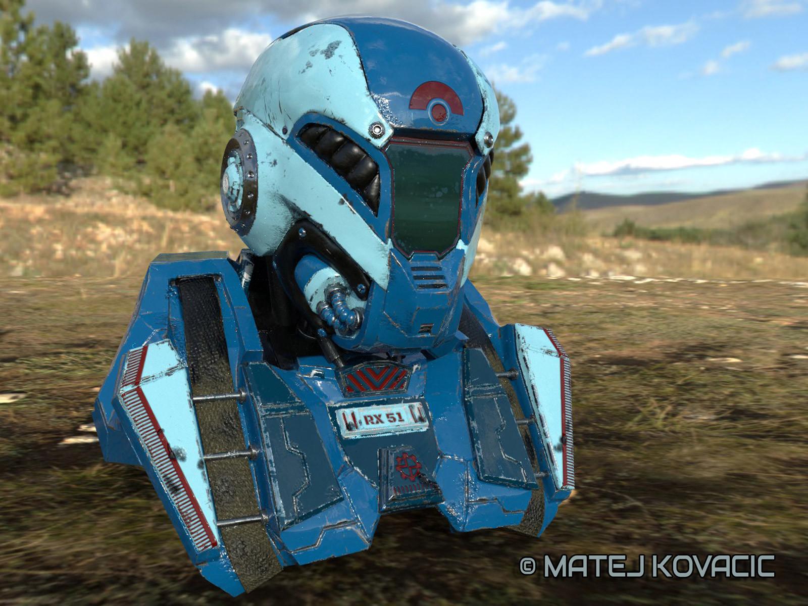 Sci-Fi Helmet RX 51 Substance Painter