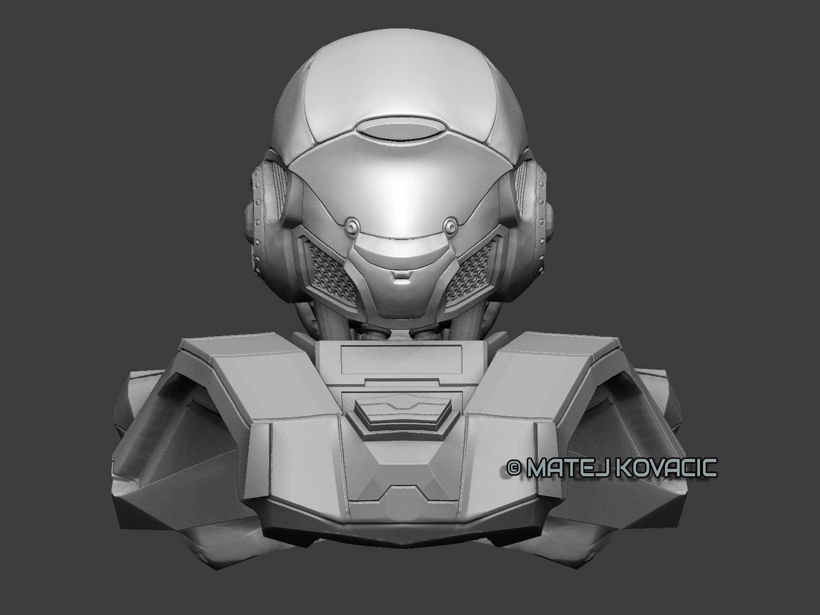 Sci-Fi Helmet RX 51 ZBrush