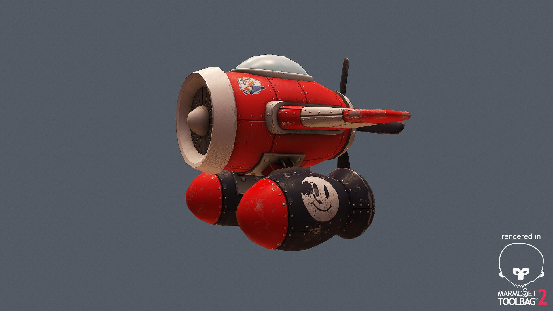 Cartoon plane - 3D model by sQmix (@sqmix) - Sketchfab