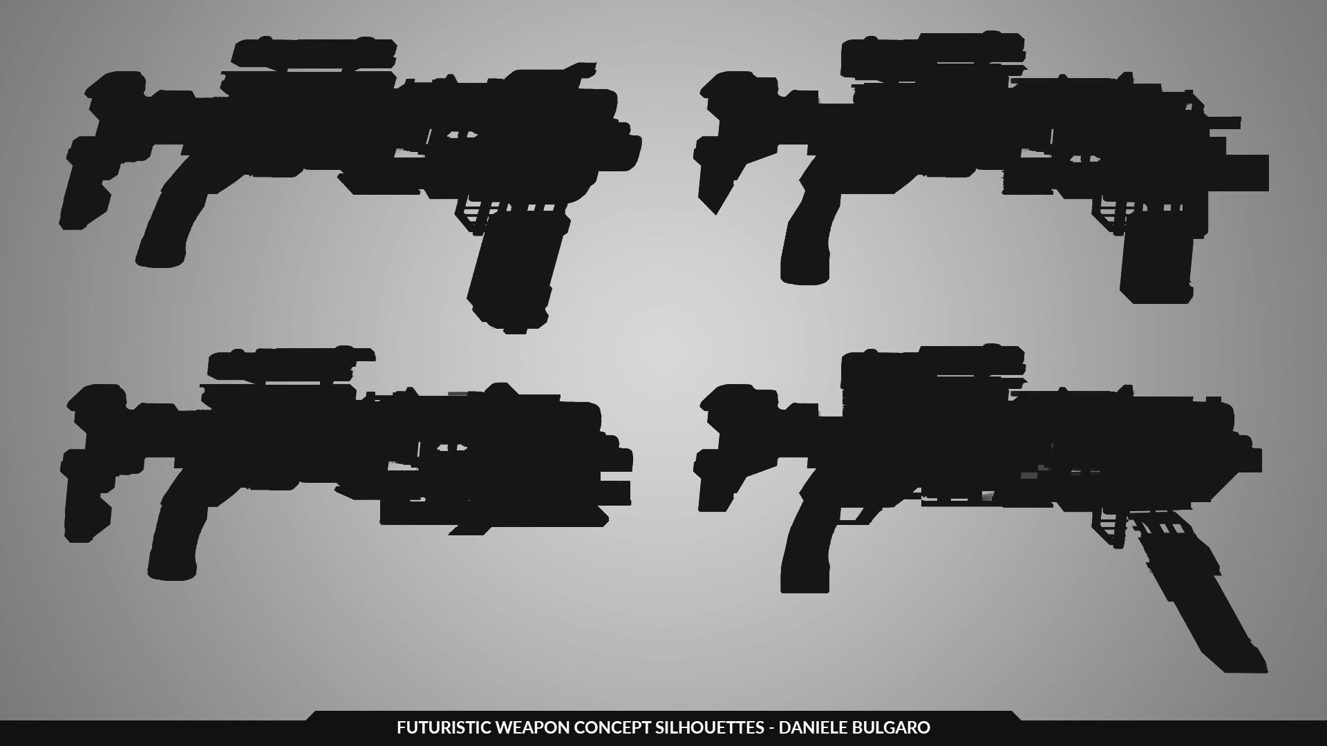 Daniele bulgaro weapon silhouettes danbulgaro