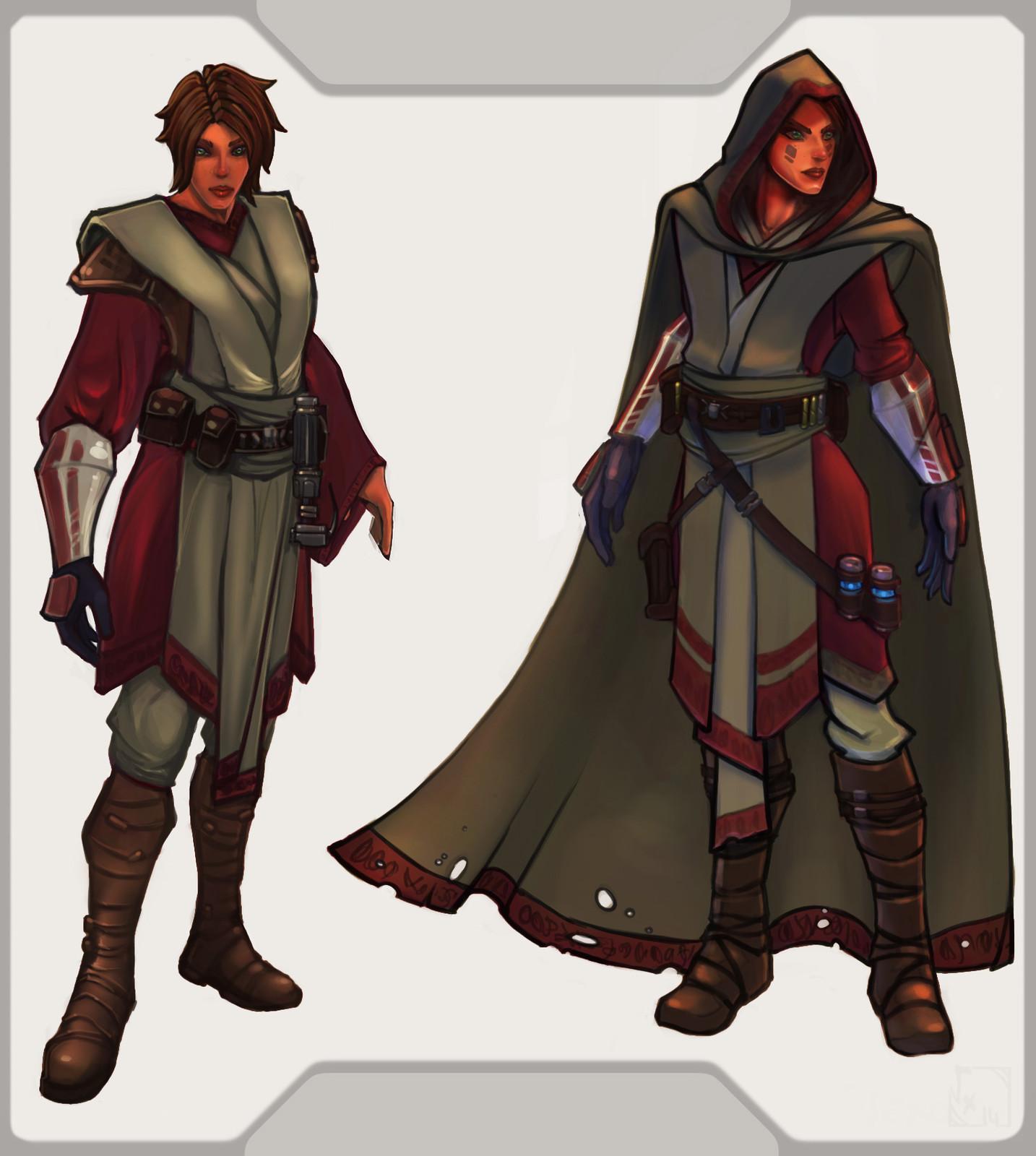 Final Skin Concept for Mevenn's Jedi outfit