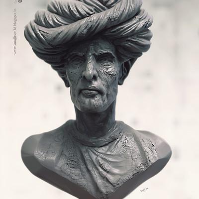 Surajit sen pagri man sculpt surajitsen 07112018