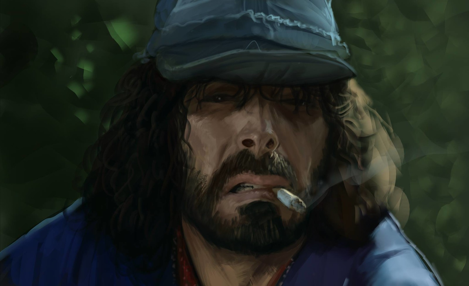 "Quick study of Tomas Milian as ""Er Monnezza"""
