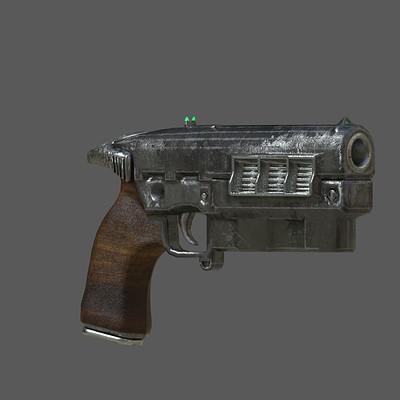 Andrew wilkins gun 12 7mm pistol revamped textures