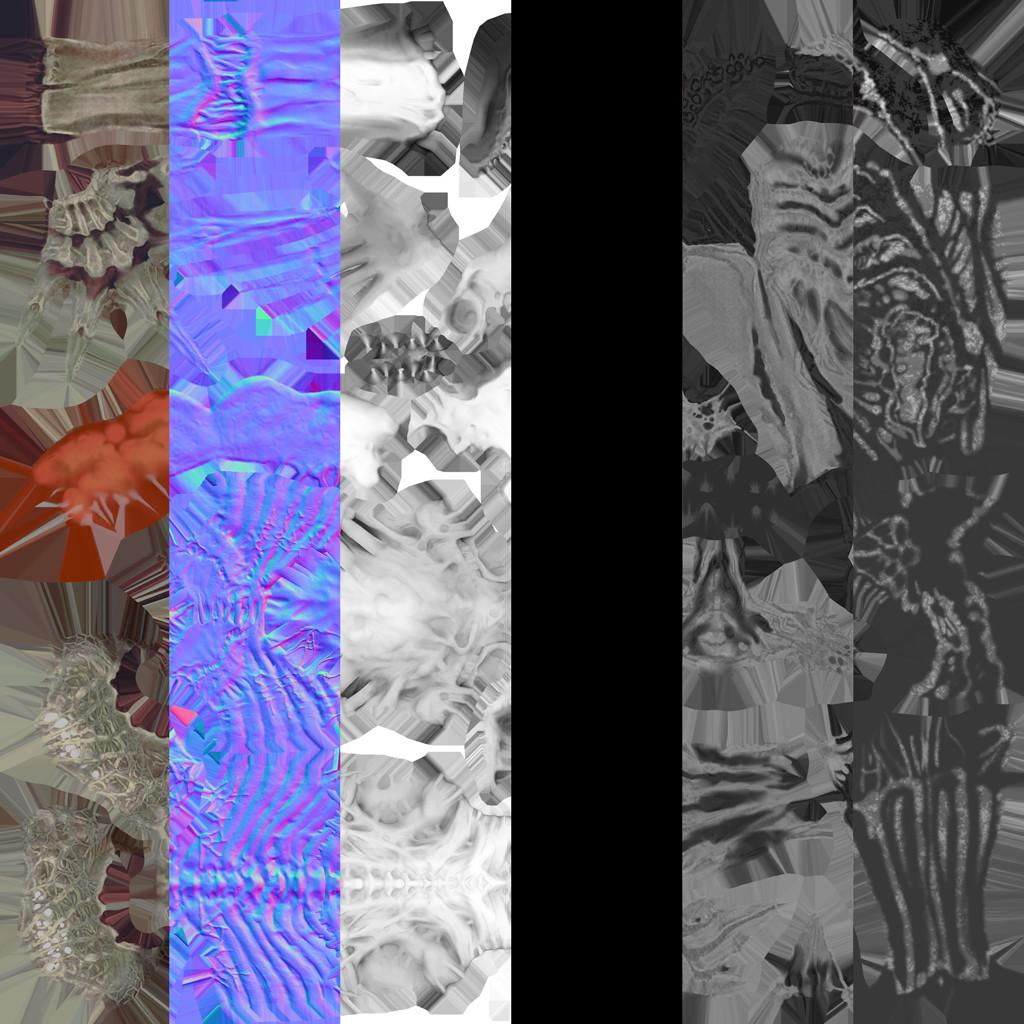 Albedo/ NM/ AO/ Metalness/ Rough/ Spec