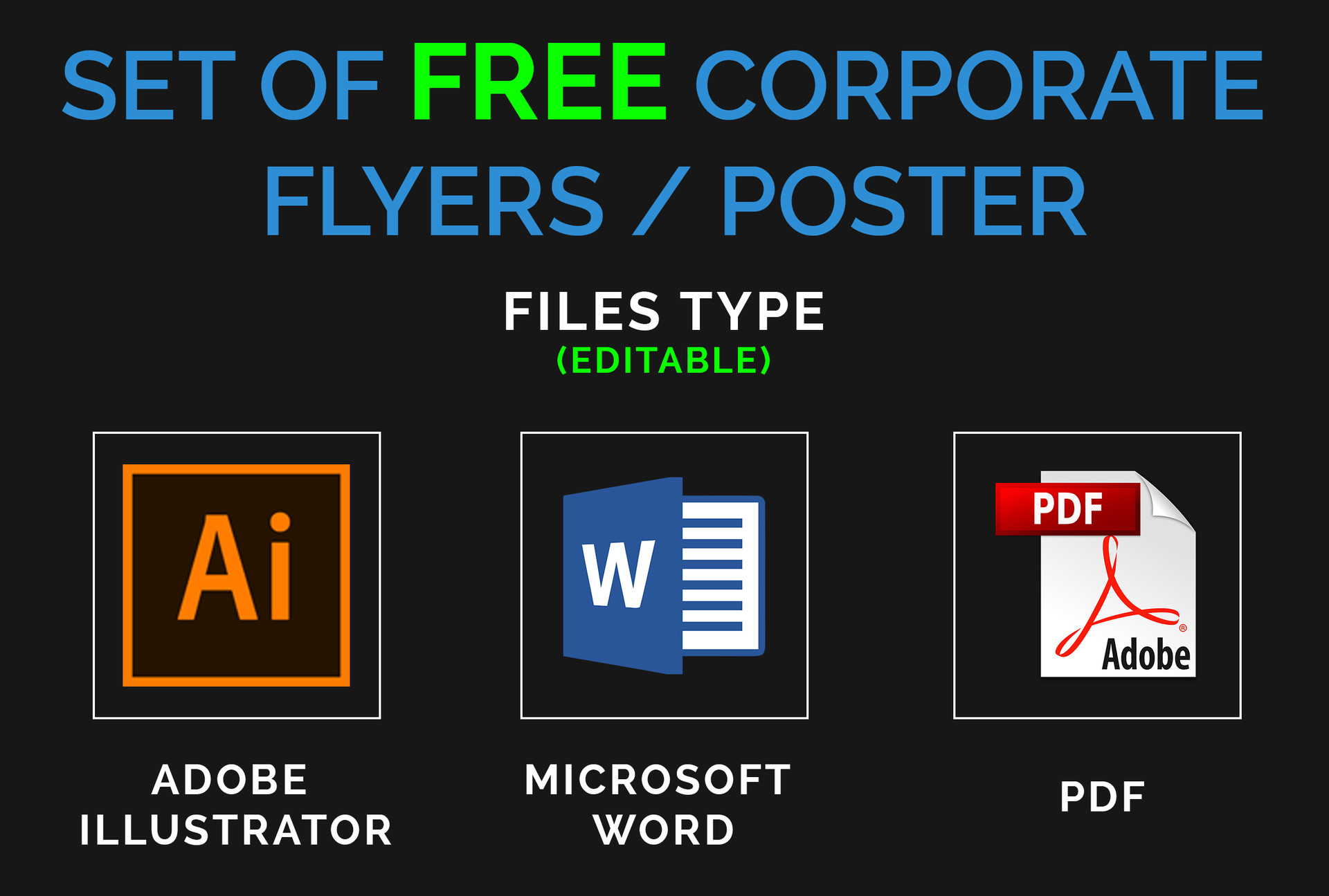 Ayub Shaikh - Set of FREE Corporate Flyer / Poster Template