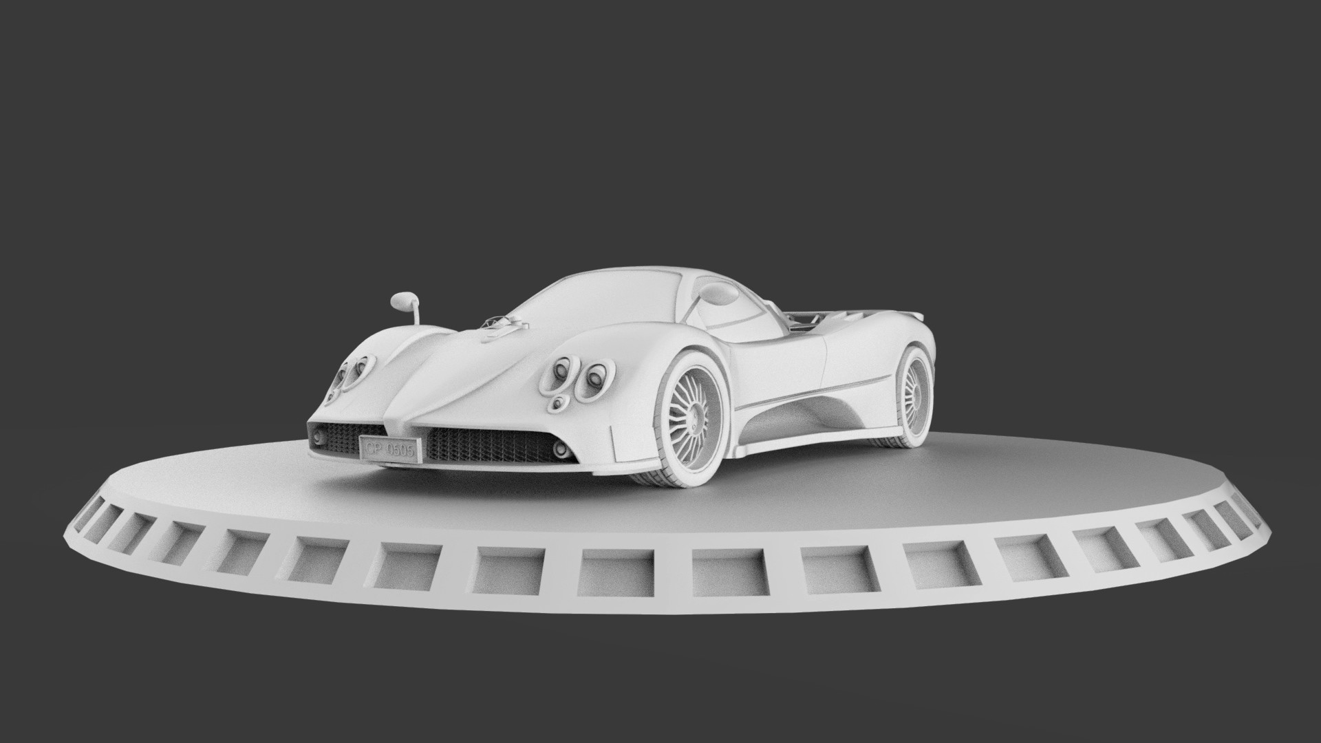 Charchit Porwal - PAGANI ZONDA F 3D CAR MODEL