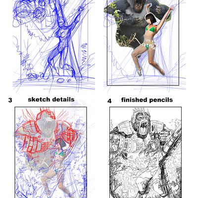 Armando abeleda sketch process
