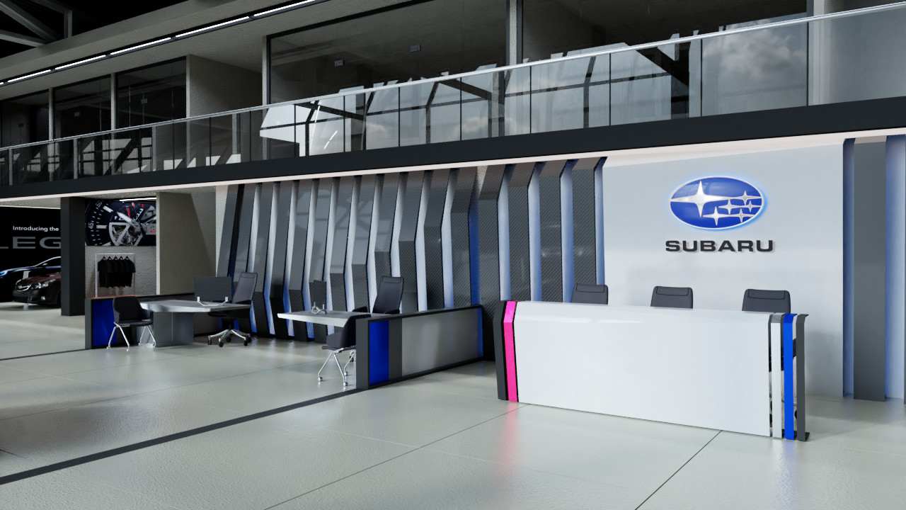 Dmitry Mazin Interior Design Of Subaru Car Dealer Center
