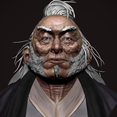 """Quick sculpt tonight inspired by an original 2D concept by Silviu Sadoschi of an """"Old master"""""""