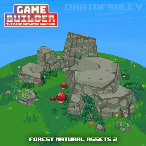 Forest Natural Assets 2 (assets for 'Game Builder')