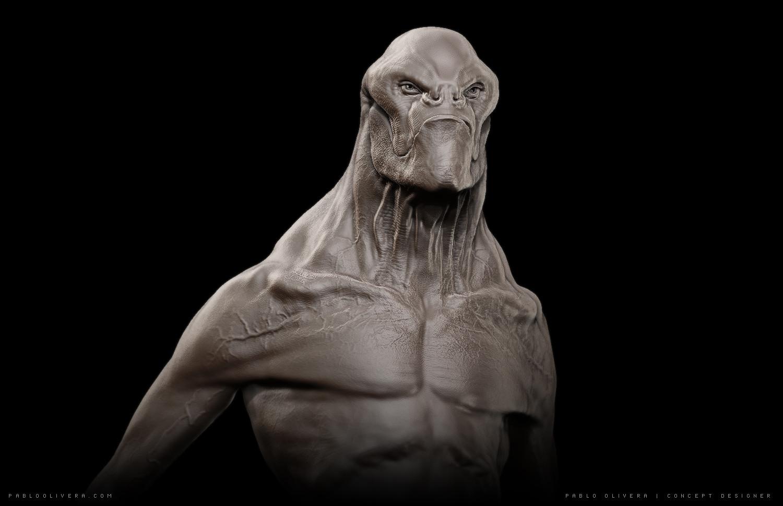 Pablo olivera alien concept 3d 2