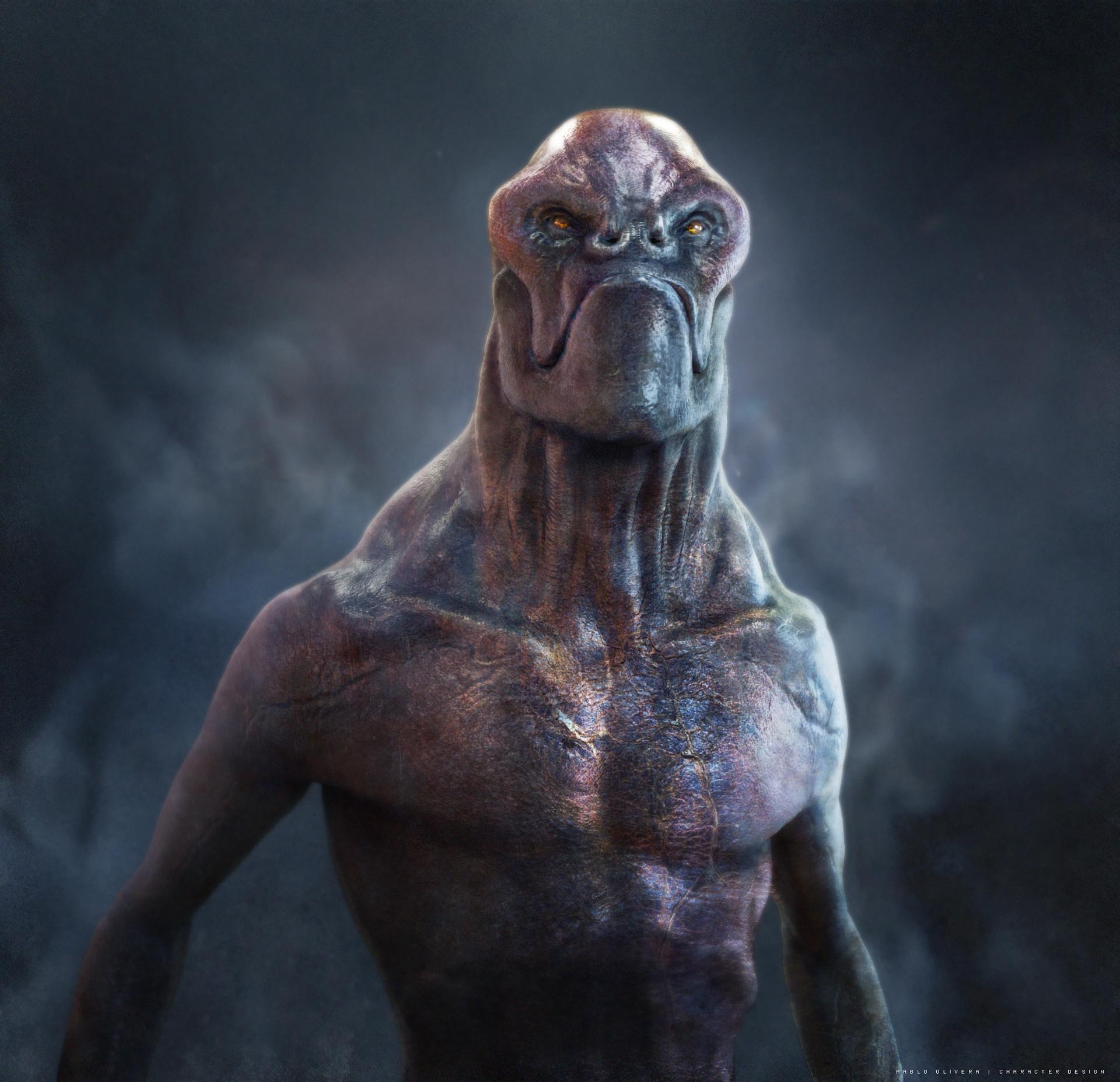 Pablo olivera alien character design by pablo olivera