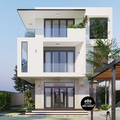 Neohouse architecture biet thu hien dai doc dao sang trang1