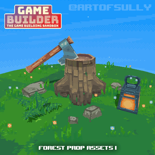 Forest Prop Assets 1 (assets for 'Game Builder')