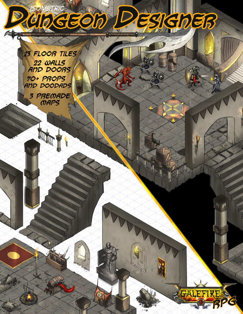 isometric dungeon designer