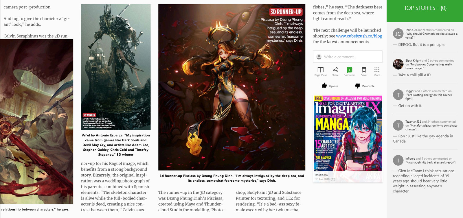 ImagineFX magazine feature