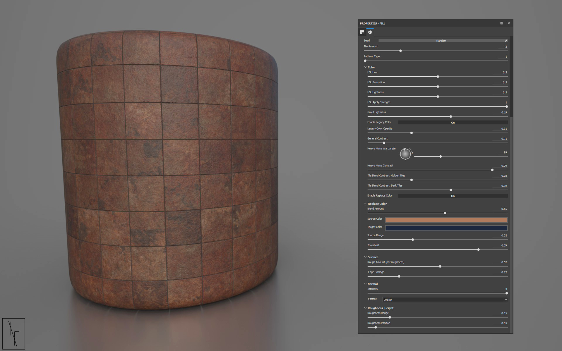 Niels fechtel bronze bathroom tiles rendercylinder v3