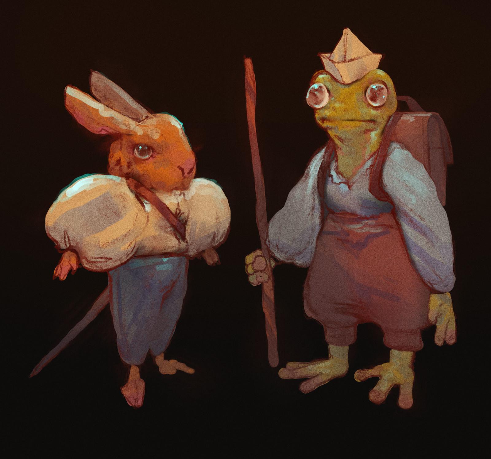 Bun and Frog