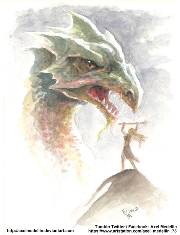 Daily sketch 2632. Dragon