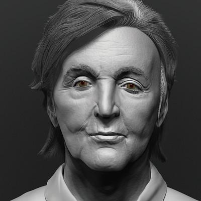 Paul McCartney sculpt (WIP)