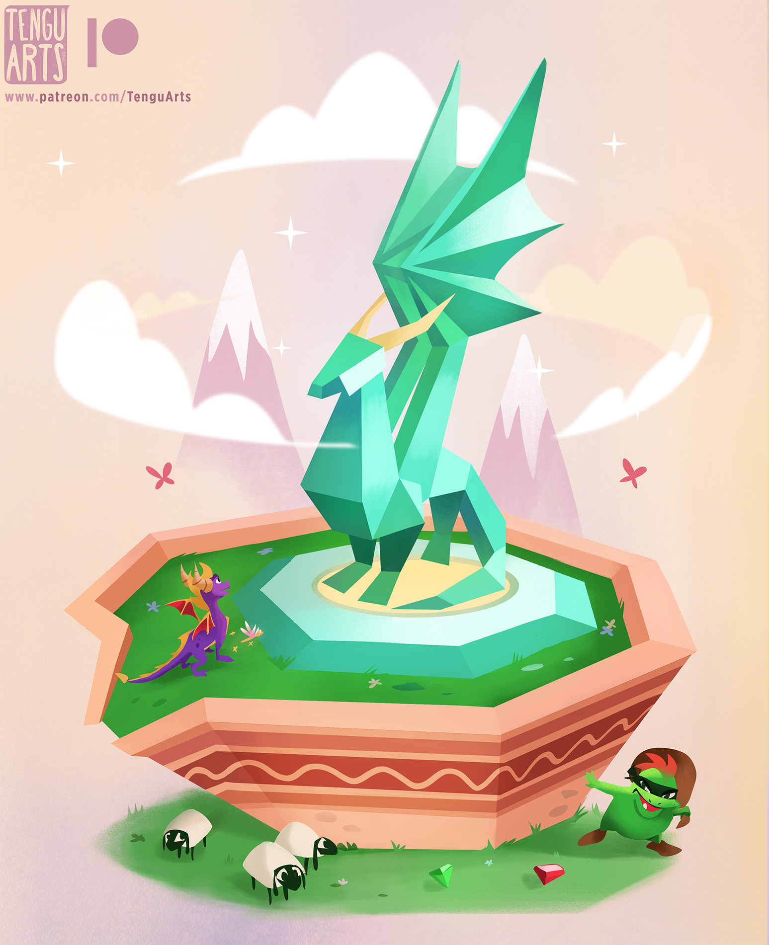 Tengu arts crystal dragon internets