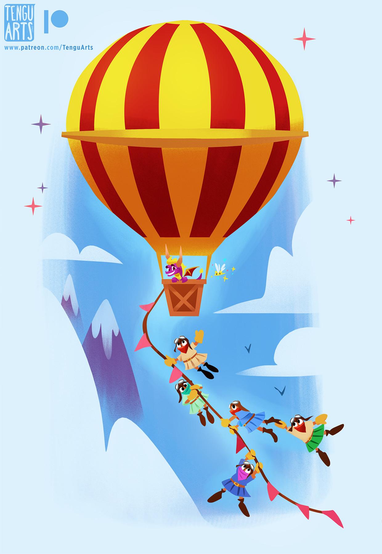 Tengu arts balloonist internets