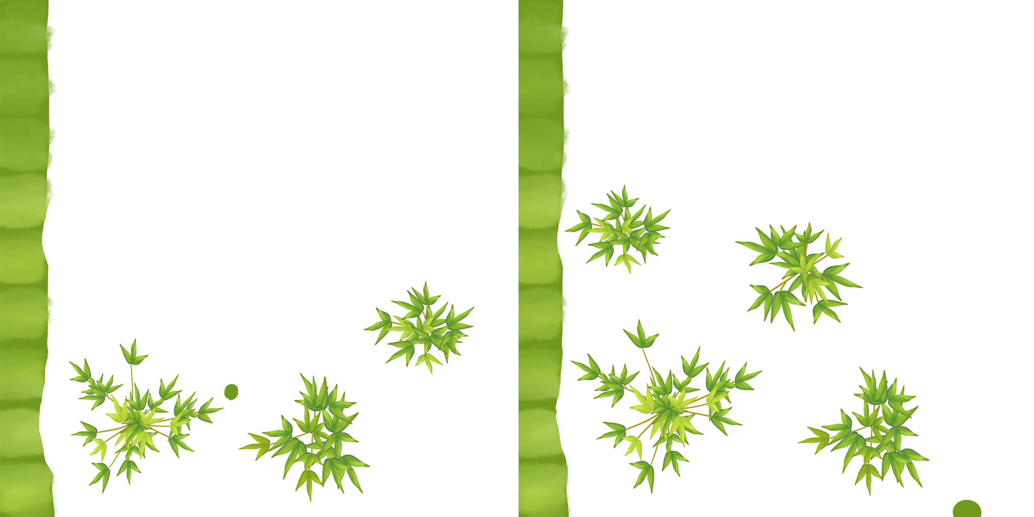 Variants on the bamboo texture.