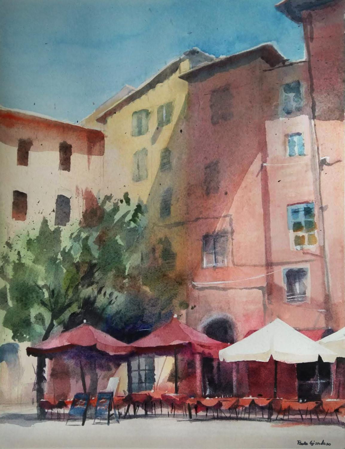 A small square in Pisa.