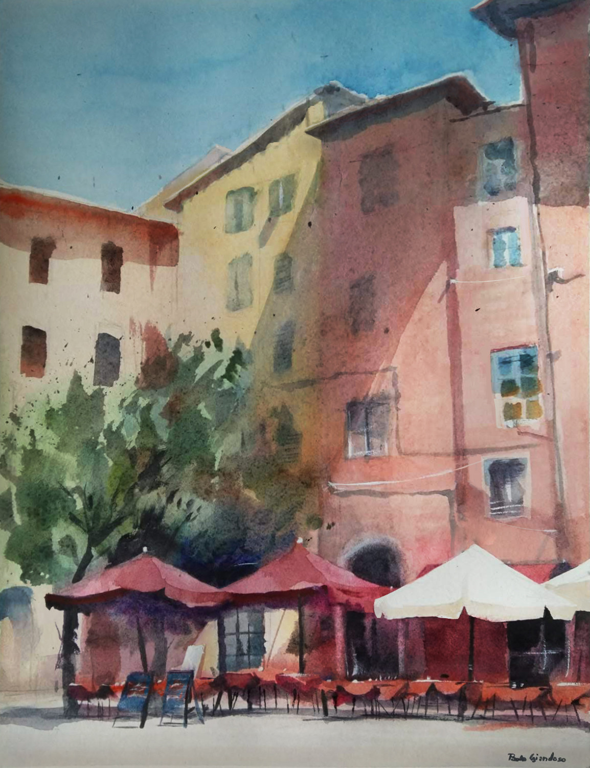A small square in Pisa.