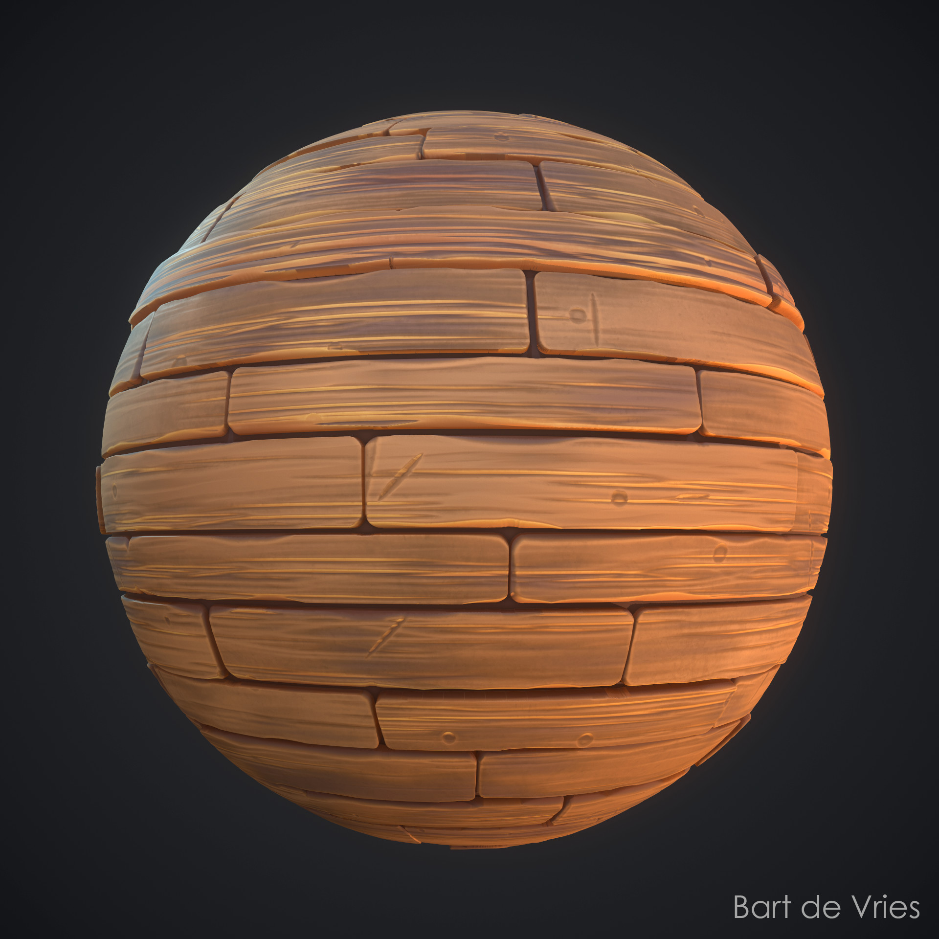 Verbazingwekkend ArtStation - Wood Planks - Stylized Material, Bart de Vries DY-32