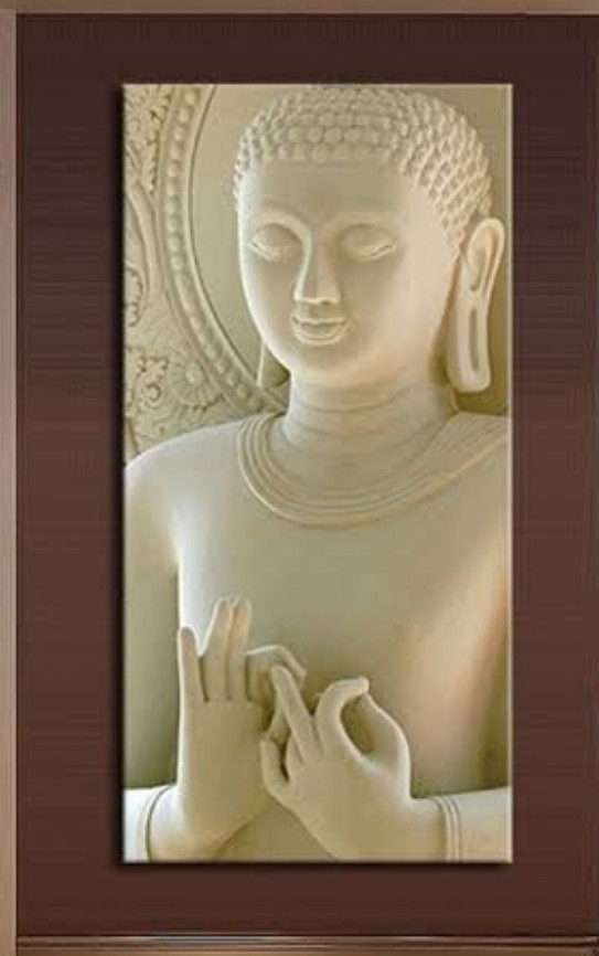 buddha  this is a  only give image by customer  now challenge is this image convert to 3d (2.5d) for cnc router machine working on stone  we do and here post more pic in gallery  made by : Keshwa Art...& group