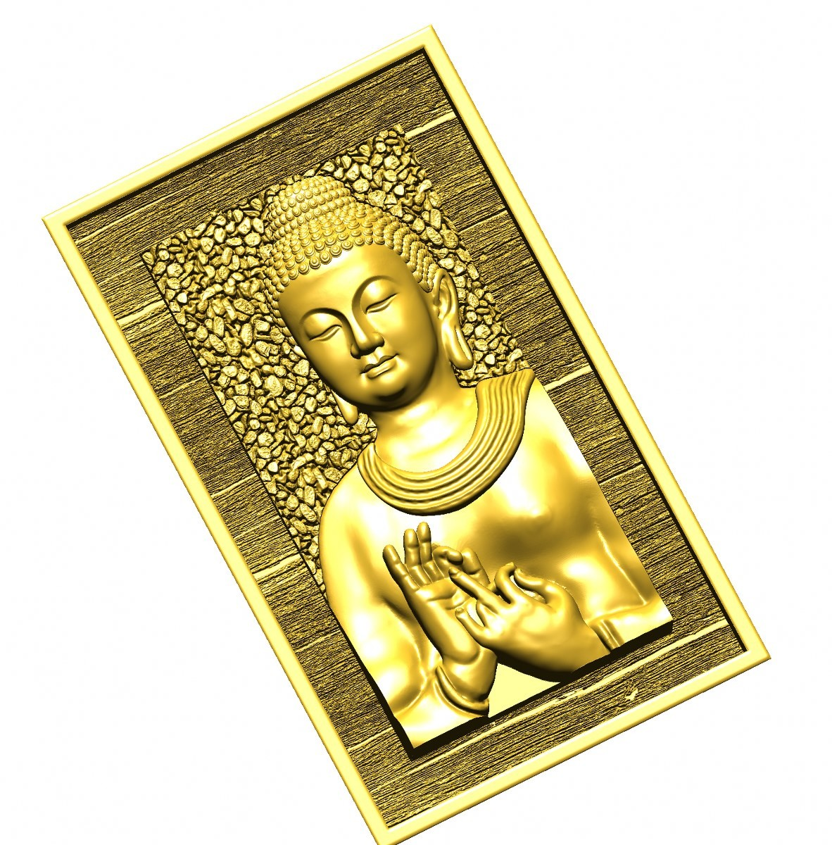 this is a 3d (2.5d) design  now i give some reference images post here    buddha design image 4 this is golden shadow image  made by : Keshwa Art...& group