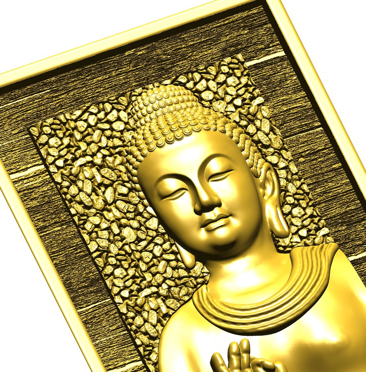 this is a 3d (2.5d) design  now i give some reference images post here    buddha design image 6 this is golden shadow image  made by : Keshwa Art...& group
