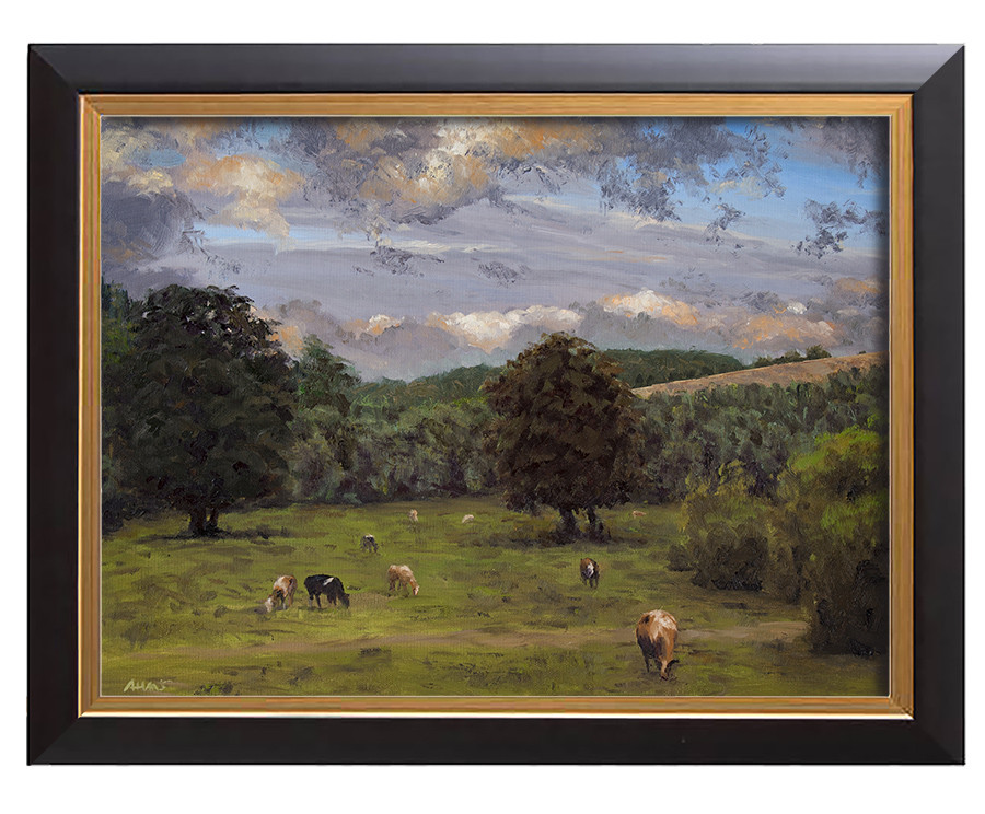 Arthur haas evening in the eifel framed small