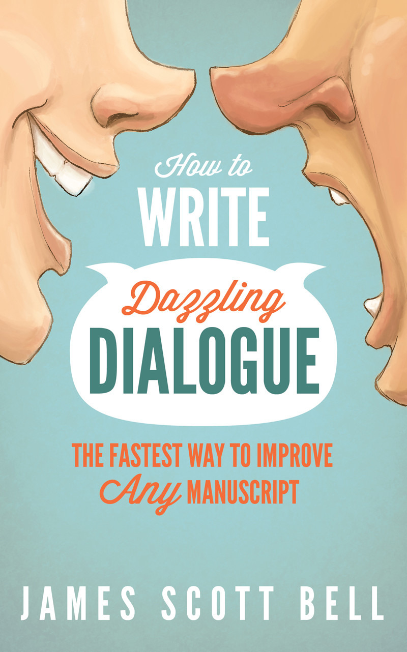 "Book Cover Design: ""How to Write Dazzling Dialogue"" by James Bell"