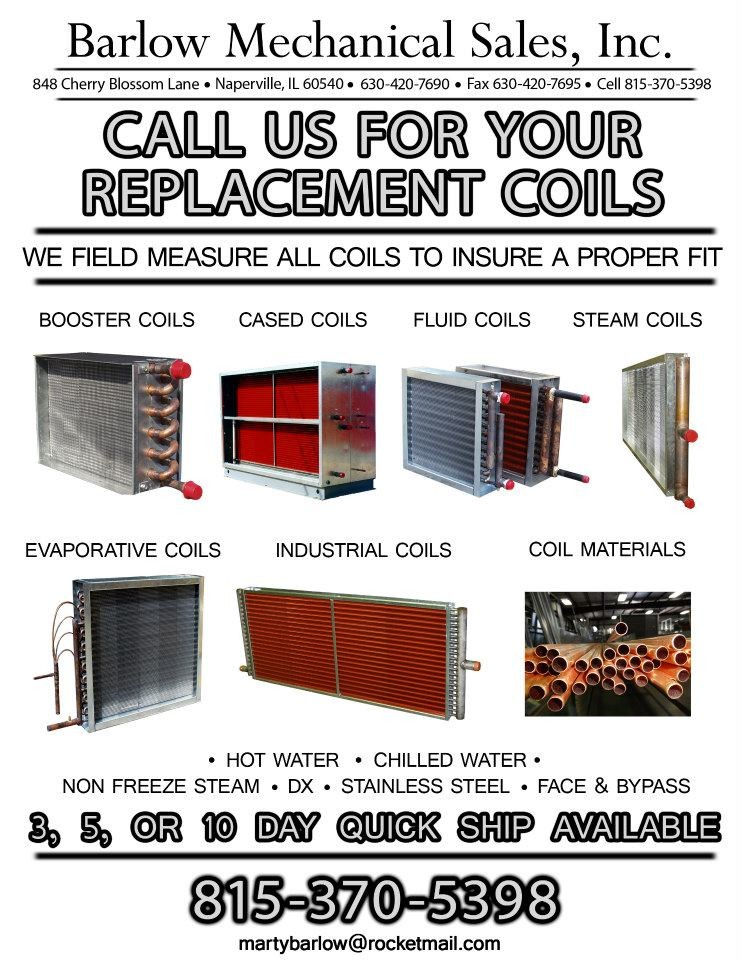 Color Flyer for Barlow Mechanical Sales Inc.