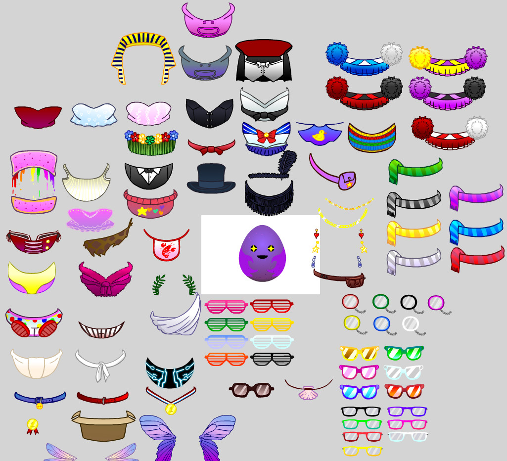 We had a lot of clothing items in game! Here are a few that were bundled with the initial release.