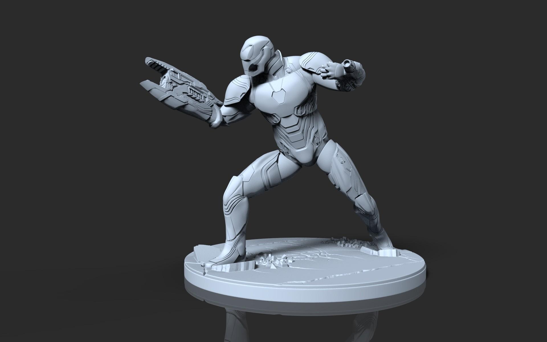 ArtStation - Avengers Infinity War Iron Man Sculpture for 3d