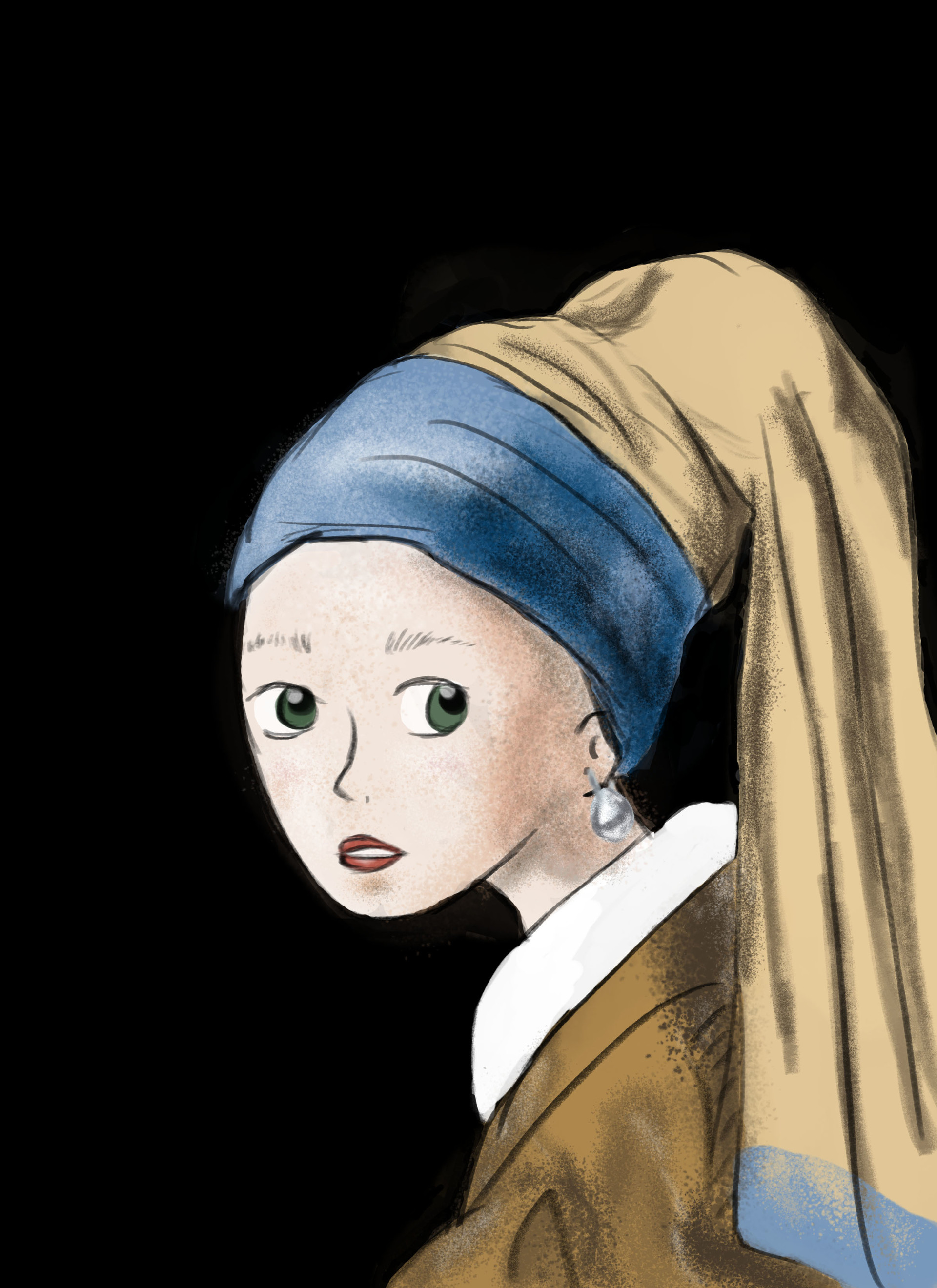 Experimentar Médula ósea seriamente  johanna López - Girl with a pearl earring / la joven de la perla