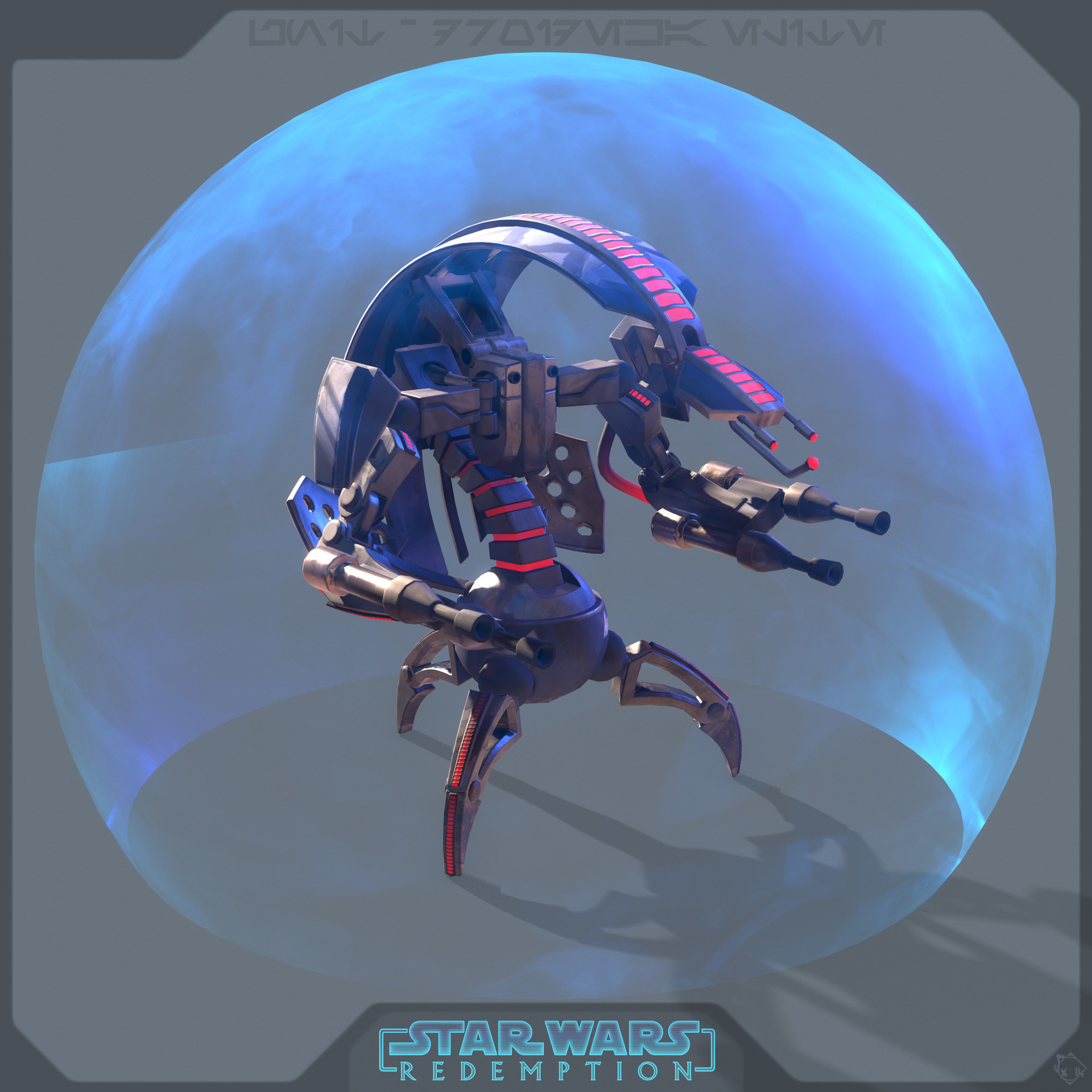 Droideka-  Elite's skin ( this one is an idea of a more badass droideka, one you may fear even more than classical one =O )
