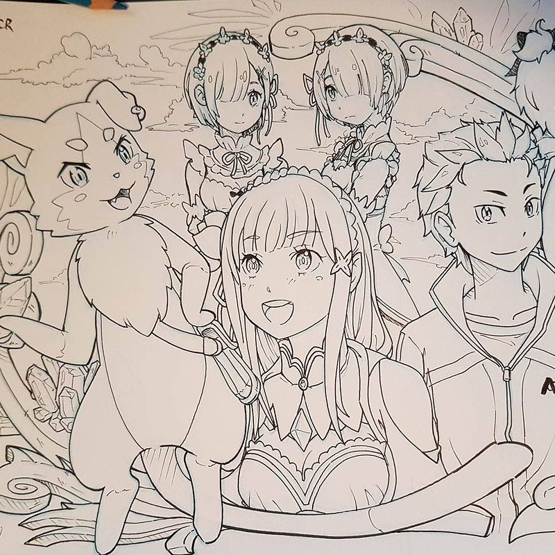Re:Zero Fan Art - Inktober