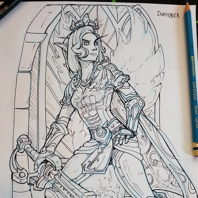 World of Warcraft Fan Art - Inktober